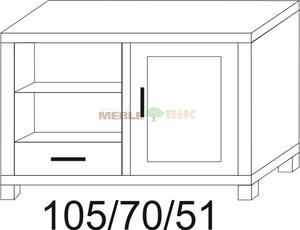Stolik narożny dębowy RTV JAWOR - 2823045092
