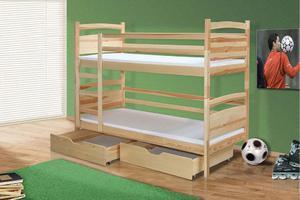 Łóżko piętrowe Oskar - bejca kolor - 2823045424