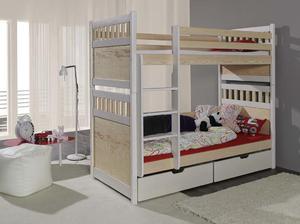 Łóżko piętrowe SALOMON - sosna lakier - 2823046149