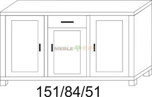 Komoda dębowa JAWOR 151 1D+1S1D+1D - 2823046394