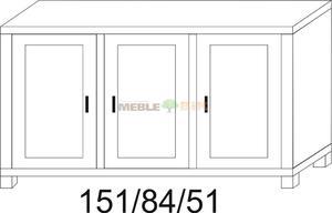 Komoda dębowa JAWOR 151 3D - 2823046396