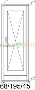 Witryna prosta dębowa JAWOR z wieńcem 1D 1S - 2823046398