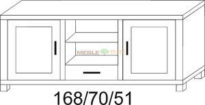 Stolik dębowy RTV JAWOR 168 1D 2W/1S 1D - 2823046426