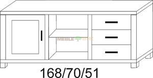 Stolik dębowy RTV JAWOR 168 1D2W3S - 2823046427