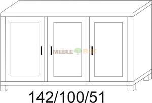 Komoda dębowa JAWOR 3D - 2823046434