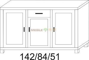 Komoda dębowa JAWOR 1D+1S1D+1D - 2823046436