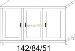 Komoda dębowa JAWOR 3D niska - 2823046438