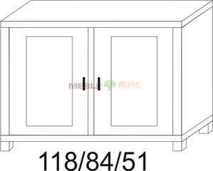 Komoda dębowa JAWOR 2D niska - 2823046439