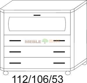 Komoda z barkiem RETRO 3S - 2823046450