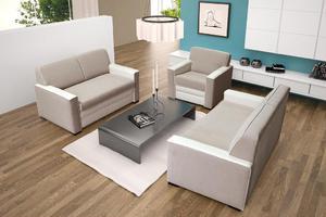 Zestaw wypoczynkowy Lotos 3+2+1 - Promocyjne Tkaniny - 2823046609