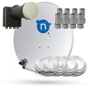 Zestaw Satelitarny do odbioru telewizji N. Zestaw przystosowany do dekodera Nrecorder TURBO 500 GB...