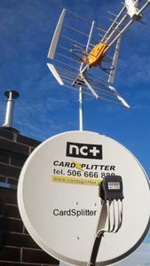 Antena 80 cm + konwerter Quad PROMOCJA - 2843889045