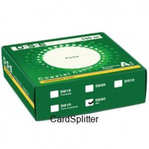 Kabel RG6 CU DSE D680pe zewnętrzny 1mb