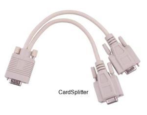 Adapter VGA (15pin męski) - 2x (15pin żeński)