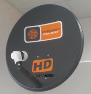 Antena Cyfrowy Polsat 70cm + konwerter Quad