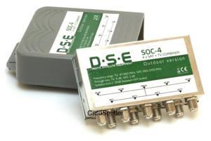 Sumator sygnału 4 x SAT+TV DSE SOC - 4 zewnętrzny