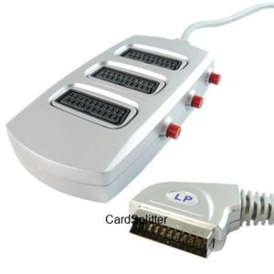 Przyłącze wtyk SCART na 3 gniazda SCART(Eurozłącze) z przełącznikiem HQ