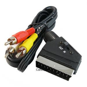 Przyłącze wtyk SCART (EURO) na 3 wtyki RCA (cinch) z przełącznikiem BEGLI 1.5m