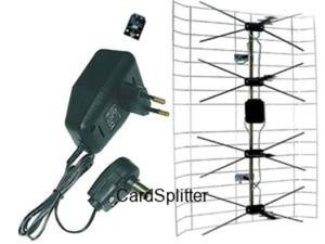 Antena szerokopasmowa + zasilacz