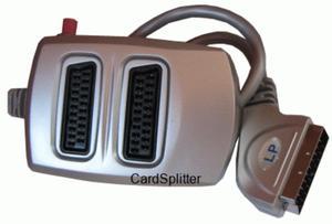 Przył. SCART x 2 gn. SCART z wyłącznikiem