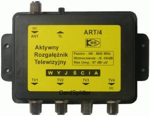 ART-4 Aktywny rozga��ziacz sygna�u TV