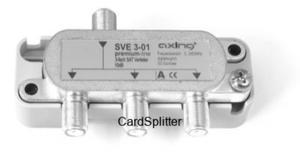 Rozdzielacz sygnału RTV i SAT - Axing SVE 3-01