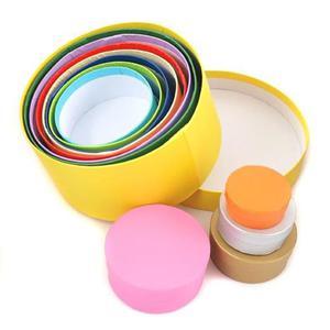 Pudełka kartonowe okrągłe (kolor) 12 szt - OKRKOL - 2857402809