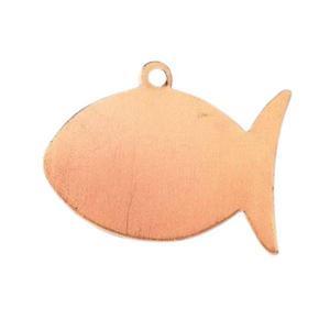 Metalowa zawieszka Efcolor - ryba 30x22 mm - RB30 - 2857406246