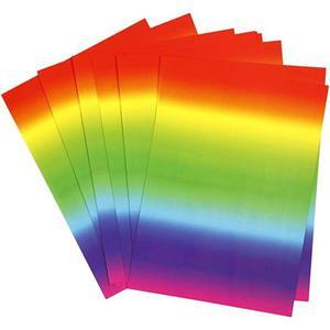 Tęczowy karton ozdobny A4/180g - cardmaking - 2857408045