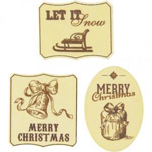 Drewniane ozdoby świąteczne - 6 szt. - 2857414305