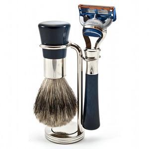 NIEPOWTARZALNY zestaw FUSION do golenia 3-częściowy, pędzel BOSRUK SILVER TOP - SOLINGEN-KIEHL - 2824998824