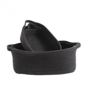 Koszyki łazienkowe czarne - komplet 4 szt. - 2849846821