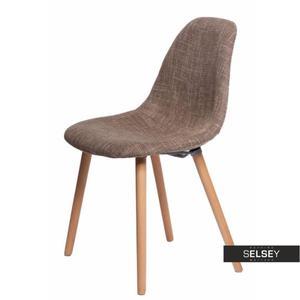 Krzesło Cosy tapicerowane brązowe - 2887417985