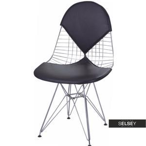 Krzesło Net double czarna poduszka - 2853362226