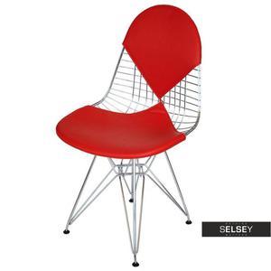 Krzesło Net double czerwona poduszka - 2853362227