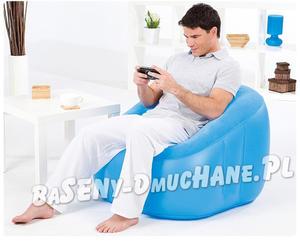 Modny fotel dmuchany z oparciem 3 kolory 74 x 74 x 64 cm - 2833446413