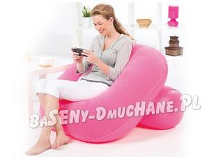 Modny fotel dmuchany 3 kolory 84 x 84 x 74 cm z oparciem - 2833446414