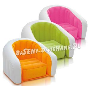 Fotel dmuchany dla dzieci 3 kolory JR. Cafe Club 69 x 56 x 48 cm INTEX - 2873319234
