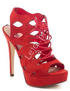 Czerwone sandałki GUESS KELISA - 2883873111