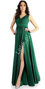 Szmaragdowa suknia wieczorowa z  - 2860052157
