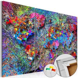 Obraz na korku - Kolorowe kłębowisko [Mapa korkowa] - 2856740378