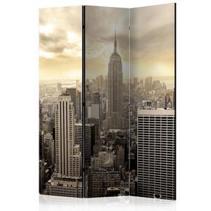 Parawan 3-częściowy - Światło Nowego Jorku [Room Dividers] - 2856741385