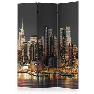 Parawan 3-częściowy - Nowy Jork o zmierzchu [Room Dividers] - 2866038344