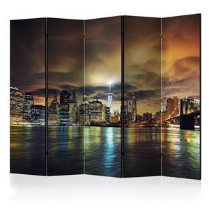 Parawan 5-częściowy - Nowojorskie niebo II [Room Dividers] - 2866038348