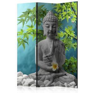 Parawan 3-częściowy - Medytujący Budda [Room Dividers] - 2856741398