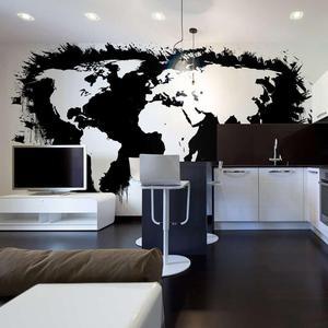 Fototapeta - Białe kontynenty, czarne oceany... - 2866331936