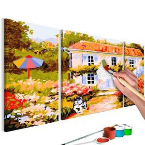 Obraz do samodzielnego malowania - Domek na wsi - 2861749981