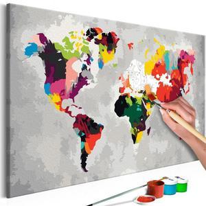 Obraz do samodzielnego malowania - Mapa  - 2861749989