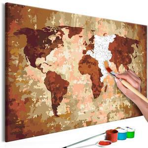 Obraz do samodzielnego malowania - Mapa  - 2861749990