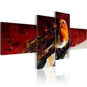 Obraz - Malutki ptaszek na czterech częściach - 2866329455